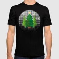 Geometric Christmas Tree… Mens Fitted Tee Black SMALL