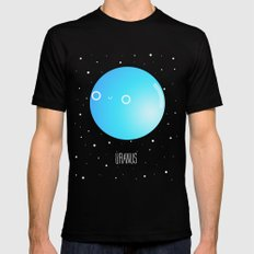 Uranus Black SMALL Mens Fitted Tee