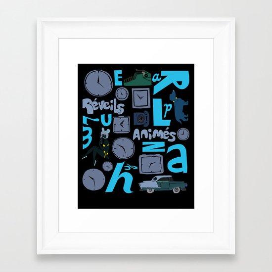 Réveils animés Framed Art Print