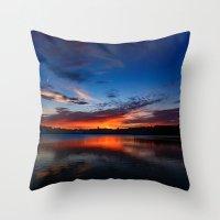 Sunset Wings Throw Pillow
