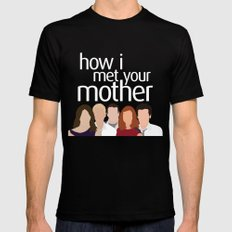 How I Met Your Mother Mens Fitted Tee Black SMALL