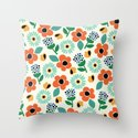 Floral Time Throw Pillow
