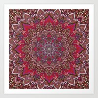 Farah Red Art Print