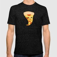 Sour food puns - pizza Mens Fitted Tee Tri-Black SMALL
