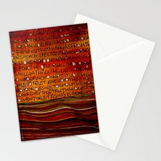 LINE AND WORDS -1 in color Stationery Cards