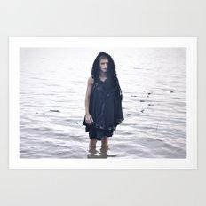 Boy in the Water Art Print