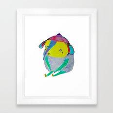 Baby Elephant. elephant art, elephant illustration, cute, kids, nature, animals,  Framed Art Print