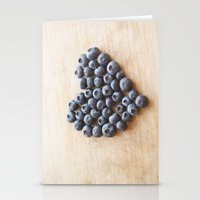 Blueberry Heart Stationery Cards