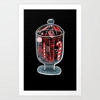 Holiday Candy Jar Art Print