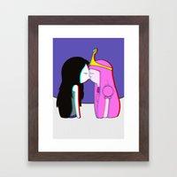 Marceline: You kept my shirt? Framed Art Print