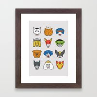 Super Dogs Framed Art Print
