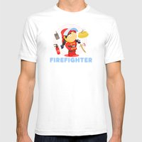 Firefighter Mens Fitted Tee White SMALL