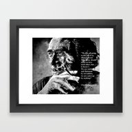 Framed Art Print featuring Charles Bukowski - Black… by ARTito