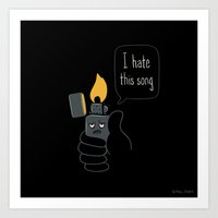 Mad Music Lighter Art Print