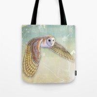 Barn Owl Labyrinth Tote Bag