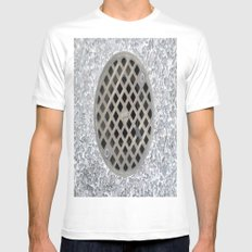 DRAIN White Mens Fitted Tee SMALL