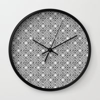 Black And White Broken D… Wall Clock