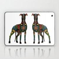 greyhound white Laptop & iPad Skin