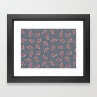 Floral Swarming  Framed Art Print