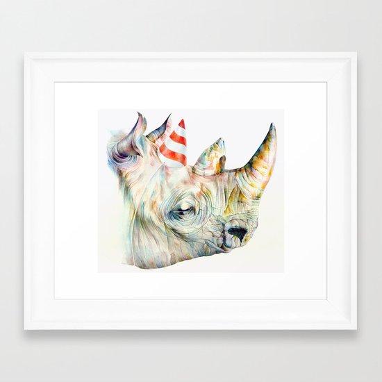 Rhino's Party Framed Art Print