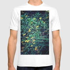 A Flower a Day Keeps the Doctor Away White SMALL Mens Fitted Tee