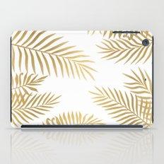 Gold palm leaves iPad Case