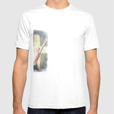 Set Free White Mens Fitted Tee SMALL