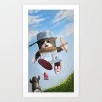 Cat Knight Art Print