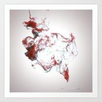 Ink Dispersion Art Print
