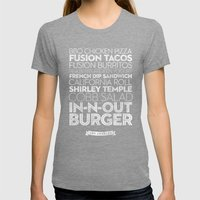 Los Angeles — Delicious City Prints Womens Fitted Tee Tri-Grey SMALL