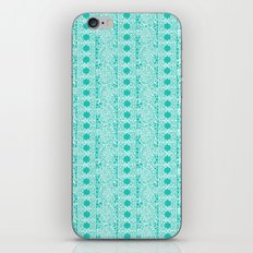 Lacey Lace - White Teal iPhone & iPod Skin