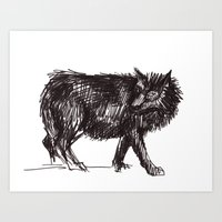In Every Story The Wolf … Art Print