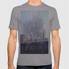Winter Tree Mens Fitted Tee Athletic Grey SMALL