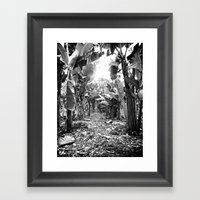 Banana Walk Framed Art Print