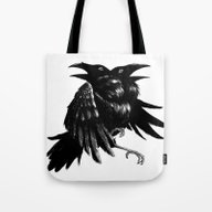 Tote Bag featuring Ravens by Naat