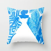 Rendezvous Blue Throw Pillow