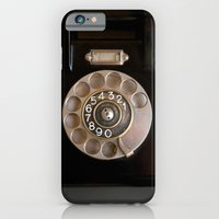 iPhone Cases featuring OLD BLACK PHONE by Simone Morana Cyla