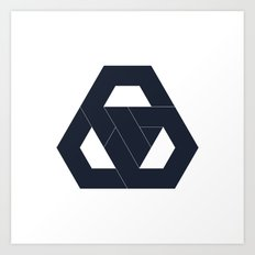 #330 Hexagon knot – Geometry Daily Art Print