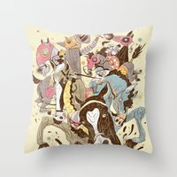 The Great Horse Race! Throw Pillow