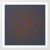 Sphere In Blue Green And… Art Print