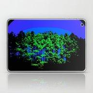 Mod Trees Blue & Green Laptop & iPad Skin