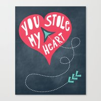 You Stole My Heart Canvas Print