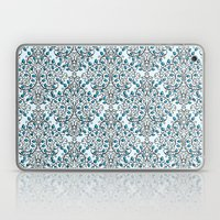 Damask Nature Blue Laptop & iPad Skin