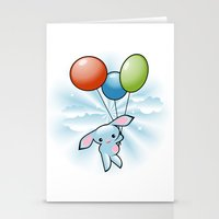 Cute Little Blue Bunny F… Stationery Cards