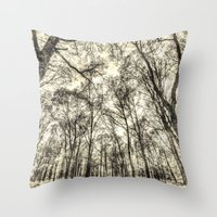 The Forest Of Sepia Throw Pillow