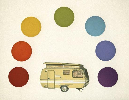 We Camped Beneath a Rainbow Art Print
