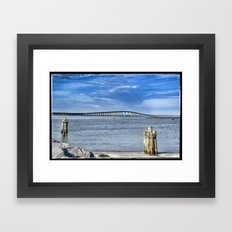 Bridge to sand and sea Framed Art Print