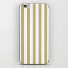Vertical Stripes (Sand/White) iPhone & iPod Skin