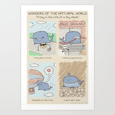 Antics #262 - a day in the life of a sky whale Art Print