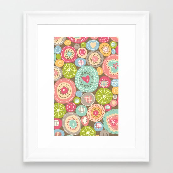 Fun Circles Framed Art Print